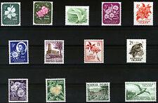 NORFOLK ISLAND 1960-62 DEFINITIVES SG24/36 MNH
