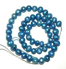 100 PC PEARL NATURAL FRESH WATER CULTURED BLUE AZURE