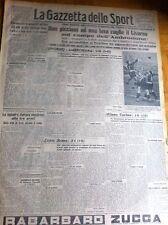 GAZZETTA DELLO SPORT 1942 N° 279 LIVORNO AMBROSIANA LAZIO  TORINO
