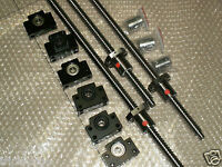 3 anti backlash 25mm ballscrew RM2505-600/1000/1000mm+BK/BF15 bearing CNC set