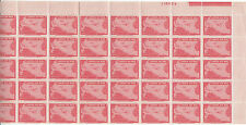 Liberia # C44 (50) MNH Halfl Sheet 1944 Air Mail Set Map Airpalne CV Hinged $75