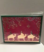 Brother And Sister Christmas Cards Deluxe 20 Total In Box 3 wise men Matt. 2:10