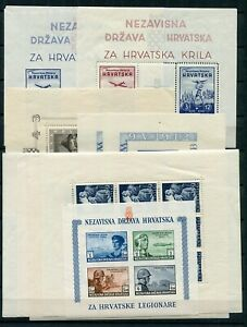 CROATIA GERMAN PUPPET STATE NICE STARTER COLLECTION INCLUDING GOOD SHEETS MNH/MH