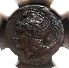 340 - 280 BC SILVER LUCANIA,VELIA DIDRACHM ATHENA NGC CHOICE VERY FINE