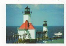 St Joseph Benton Harbor Michigan Lighthouse Postcard USA 408a ^