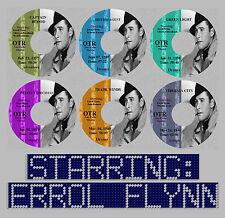 ERROL FLYNN Old Time Radio Shows Vintage OTR 6 CDs Olivia de Havilland ROMANCE