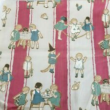 """Antique 1920 Children at Play Fabric 34""""w x 30""""l"""