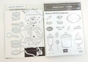 Stampin Up! Sweetest Thing Stamp & Die Bundle Candy Jar Birthday Treats EUC