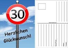50 Ballonflugkarten 30 Geburtstag Herzlichen GlückwunschVerkehrsschild