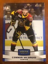 Blue #/25 Connor McDavid 2015 National Chicago Show Leaf In the Game Card