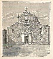 A6410 Otranto - Cattedrale - Stampa Antica del 1929 - Incisione