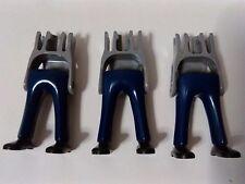 PLAYMOBIL, LOTE 3U PIERNAS PANTALON AZUL OSCURO WESTERN POLICIAS LEGS BLUE OESTE