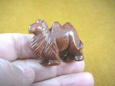 Y-CAM-558) little Orange Goldstone CAMEL gemstone carving I love camels figurine