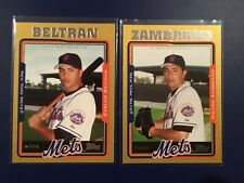 2005 Topps -413 and 478 VICTOR ZAMBRANO - CARLOS BELTRAN GOLD SP 2 Lot METS LOOK