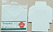 5 x Hunkydory Smooth White Men's Shaped Card Blanks 14cms x 14.5cms & white Env