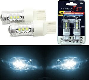 LED Light 80W 7444 White 6000K Two Bulbs Front Turn Signal Replacement OE Fit