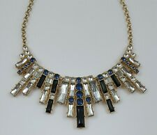Style Statement Bib Necklace Rhinestone Art Deco Egyptian Revival