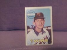 BILLY MARTIN 1969 TOPPS  CARD
