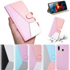 Splice Wallet Leather Flip Case Cover For Samsung S20 S10 S9 S8 Plus A10 A50 A51