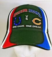 Super Bowl XLI 41 Colts Bears NFL Strap back Hat Cap Reebok On Field Exclusive