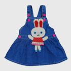 Infant Kids Girls Dress Toddler Baby Girls Denim Rabbit pattern Summer Dress