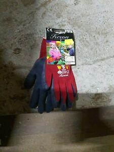 1 Paar TOWA rote Schutzhandschuhe beschichtet für Kinder 9-11 Jahre (6/XS)