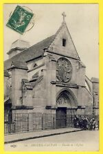 cpa 94 - ARCUEIL ÉGLISE Saint Denys Groupe d'Enfants DEVISE de la RÉPUBLIQUE