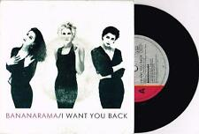 "BANANARAMA - I WANT YOU BACK - RARE 7"" 45 SAMPLE VINYL RECORD w PICT SLV - 1988"