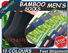 Men's BAMBOO SOCKS Soft Anti-bacterical Breathable - 10 COLOURS BEST QUALITY !
