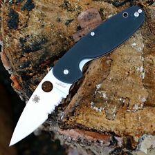 Couteau Spyderco Emphasis Lame Acier 8Cr13MoV Serr Manche Black G10 SC245GPS