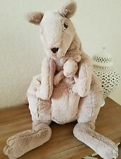Ikea Kangaroo Plush Mama Large Soft Stuffed Animal Pouch with  Baby