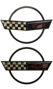 1991-1996 Chevrolet Corvette C4 Emblem Set 2PCS Front & Rear GM Licensed New