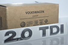 Volkswagen NEW ! Genuine Emblem 2.0 TDI Chrome Rear Boot Badge Tailgate OEM VW