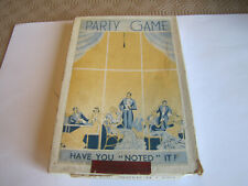 """Vintage Party Game ' Have you """" Noted """" it? '"""