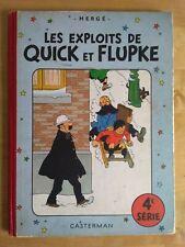 - LES EXPLOITS DE QUICK ET FLUPKE - HERGE 4e série Casterman B7 1952