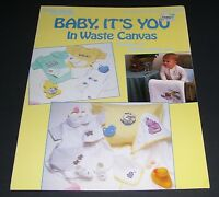 LEISURE ARTS COUNTED CROSS STITCH LEAFLET 544 BABY IT'S YOU 1987 PATTERN