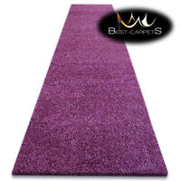 Modern Hall Runners soft SHAGGY Carpet 5cm purple Width 60-140cm extra long RUGS