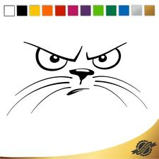 Aufkleber Sticker Autoaufkleber Katze Katzenaugen böser Blick 12 x 6,3 cm