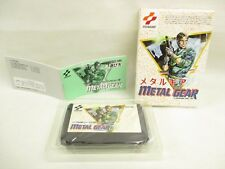 Metal Gear GOOD Condition Famicom NINTENDO fc