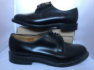 Black Patent Leather Loake Shoes Mens Size Uk 9 Handmade Shoes Lace Up Quality