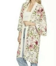 Steve Madden Floral Kimono Duster Cardigan Cover Up $99 - 1SZ - NWT