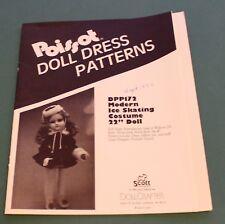 "Poissot Doll Dress Pattern #Dpp172 Modern Ice Skating Costume 22"" Doll Uncut"