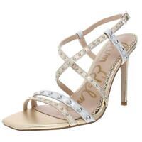 Sam Edelman Womens Lennox Gold Dress Sandals Heels 7 Medium (B,M) BHFO 1226