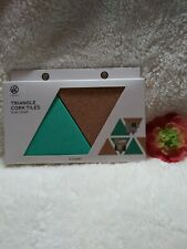 Ubrands Two Sets of 6 (12pc) Triangles Two Tone Teal and Cork Tiles w/ mounting