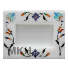 Mosaic Marble Photo Frame Inlay Gem Stone Picture Frame Marquetry Vintage Design