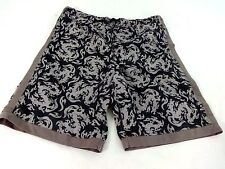 SIDEOUT BOYS BLACK & GRAY NYLON BOARD SHORTS SIZE LARGE (14/16)