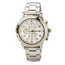 Fossil FS4795 Men's Dean Chrono White Dial Two Tone Steel Bracelet Watch