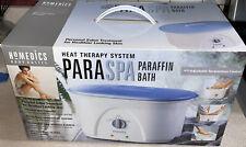 HoMedics Paraspa Heat Therapy System PAR-200 Paraffin Wax Bath - NIB 6# Of Wax