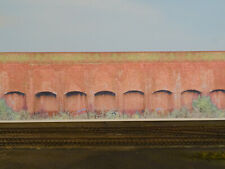 LINESIDEANDLOCOS OO GAUGE RED BRICK RETAINING WALL BACKSCENE (DC004)