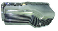 SB Ford SBF Polished Finned Aluminum Front Sump Oil Pan 289-302 5 Qt Mustang V8